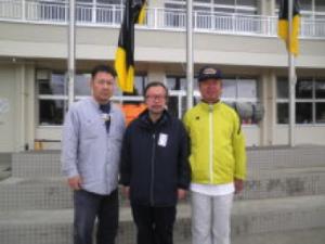 三陸町立歌津中学校校長と山本のぶあき