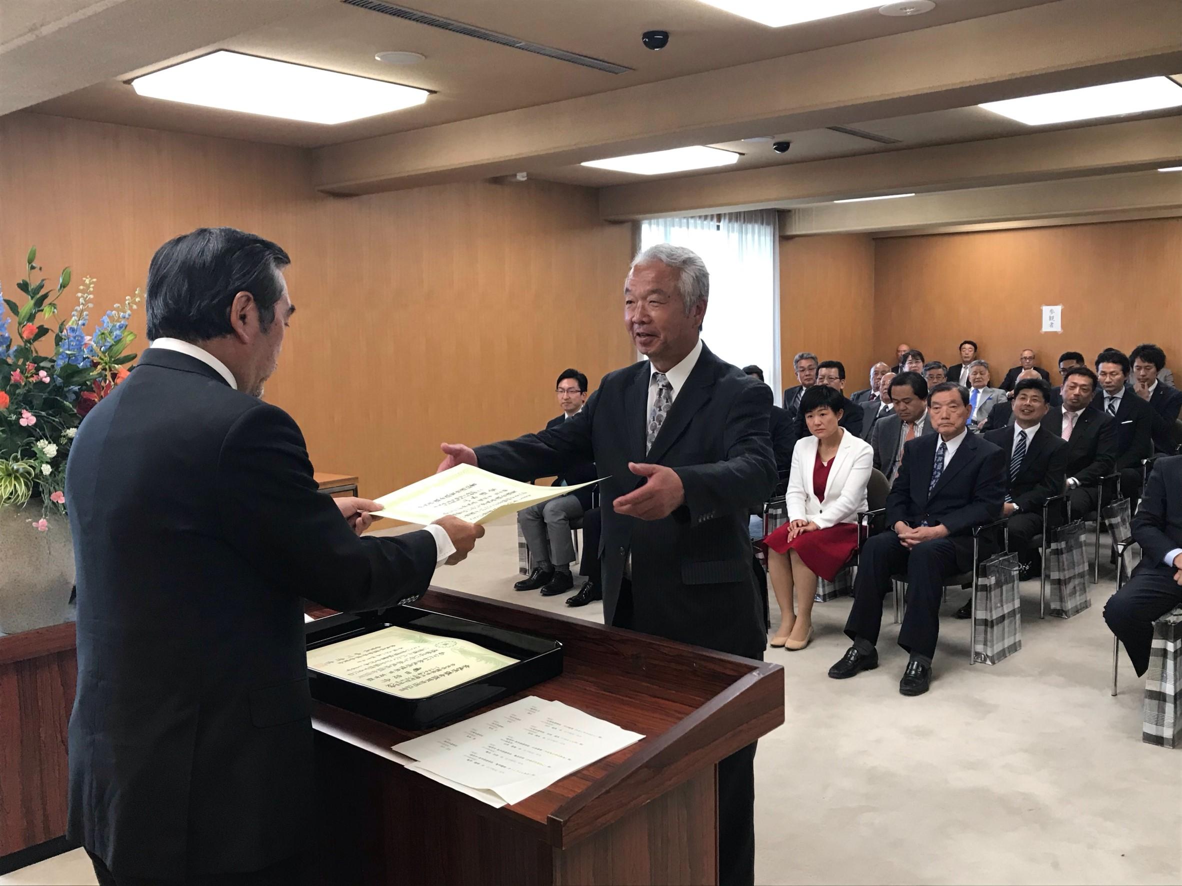 山本のぶあき – 2019.4 当選証書授与式